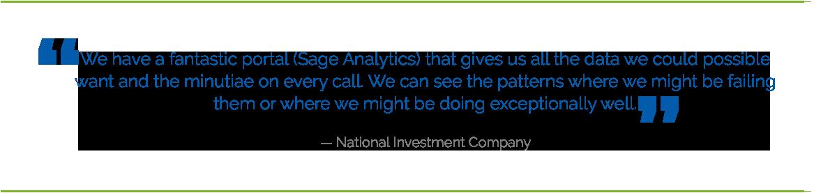 national investment testimonial - Web Based Analytics