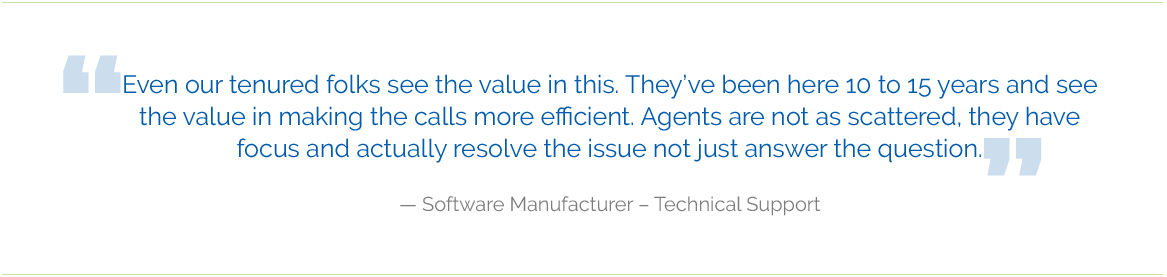 software manufacturer testimonial - Consulting